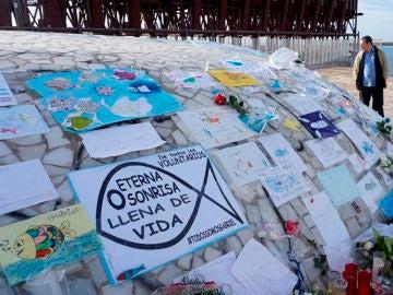 Mensajes en recuerdo a Gabriel en Almería