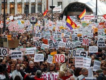 Manifestación por las pensiones dignas en Madrid