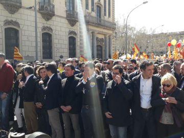 Albert Rivera, en la manifestación convocada por Sociedad Civil Catalana