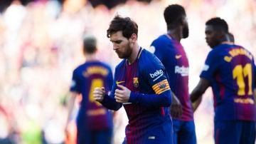 Messi baila para celebrar un gol