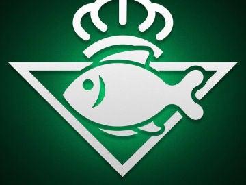 El escudo del Betis, con un pez