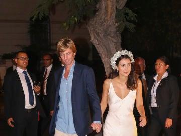 Alessandra de Osma con su segundo vestido de boda y Christian de Hannover
