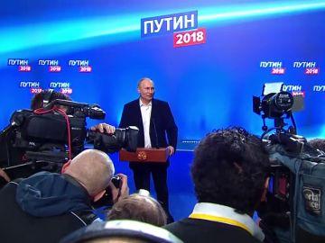 Putin gana las elecciones presidenciales de Rusia