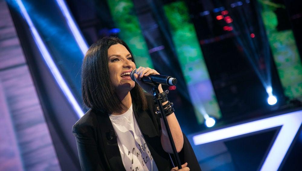 Laura Pausini canta en 'El Hormiguero 3.0'