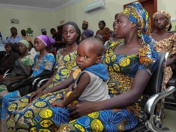 Fotografía de archivo de algunas de las niñas de Chibok secuestradas y posteriormente liberadas en Abuja