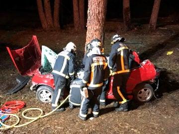 Imagen del accidente en Rascafría