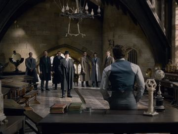 Dumbledore en Hogwarts en 'Animales Fantásticos 2'