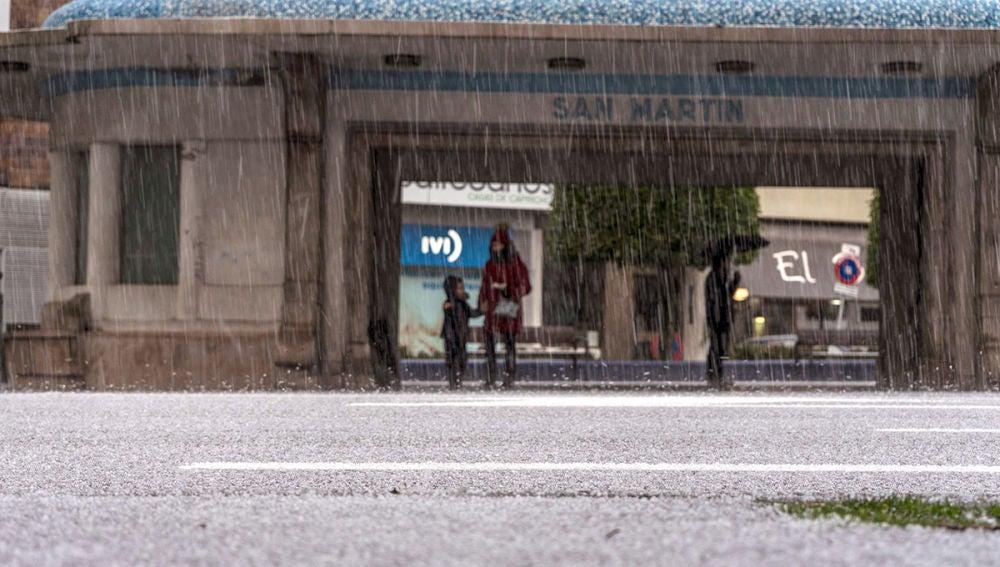 Imagen de una parada de autobús en Santander