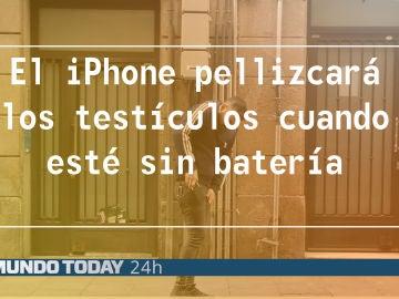 El iPhone pellizcará los testículos