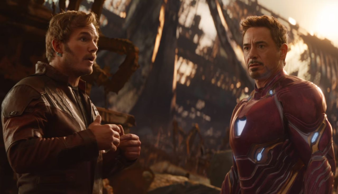 Star-Lord y Iron Man en 'Vengadores: Infinity War'