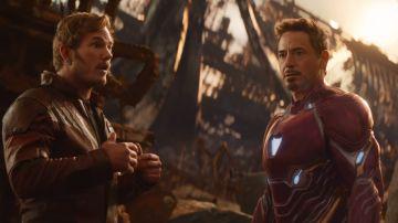 Star-Lord y Iron Man en 'Vengadores: Infinity War'