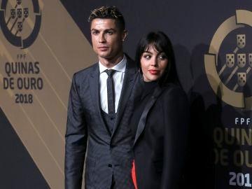 Cristiano Ronaldo, junto a Georgina