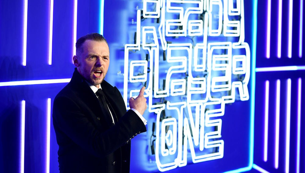 Simon Pegg en la premiere de 'Ready Player One'