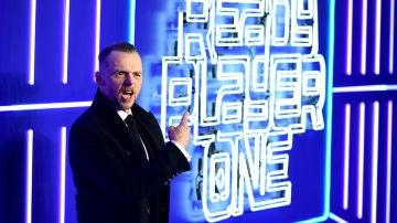 Simon Pegg en la premiere de 'Ready Player One'