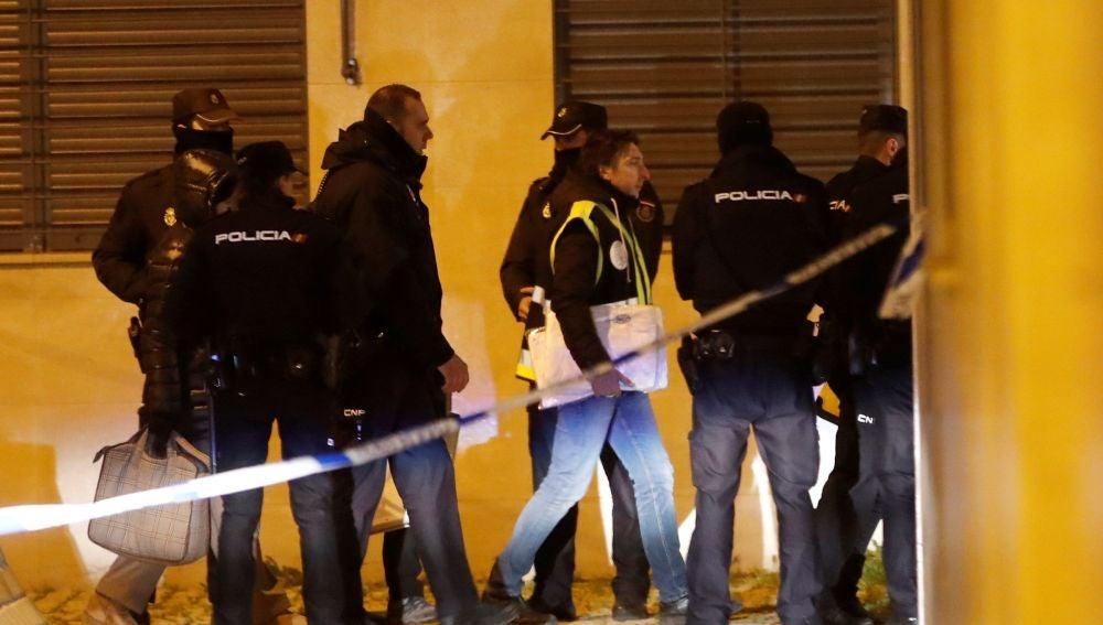 Agentes de la Policía Nacional en Getafe