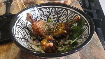 Receta de alitas de pollo con salsa de soja y miel