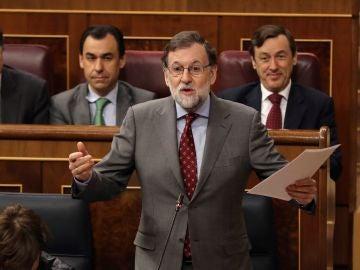Mariano Rajoy  al inicio de la sesión  celebrada en el Congreso.