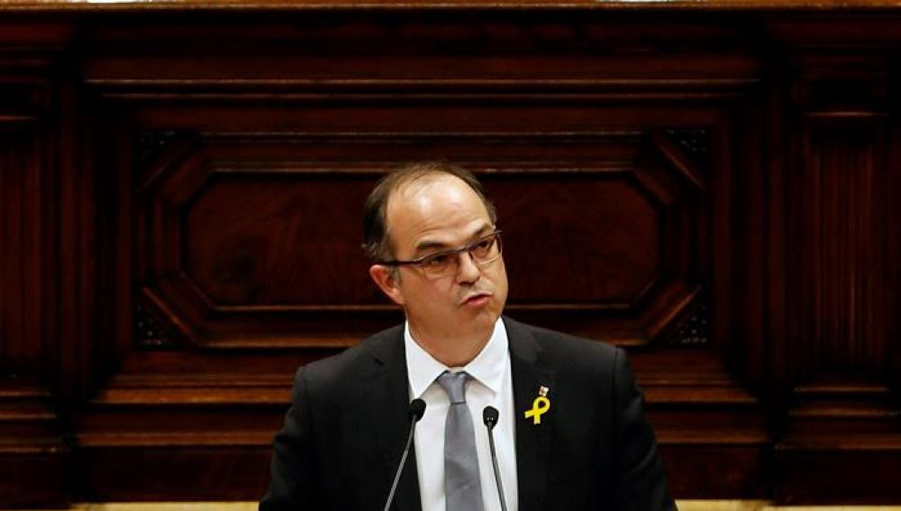 El candidato a la investidura de la Generalitat, Jordi Turull