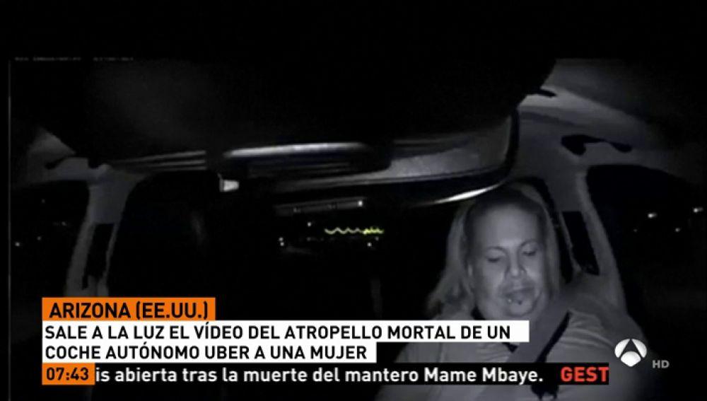 Sale a la luz el vídeo del atropello mortal de un coche de Uber