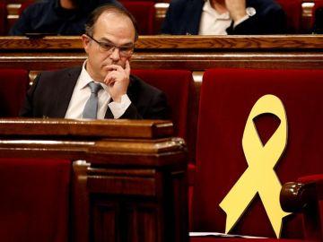 Jordi Turull durante el pleno de investidura en el Parlament