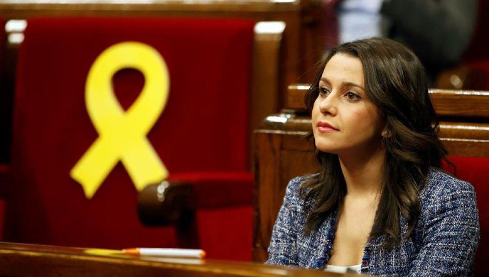 Inés Arrimadas en el Parlament catalán