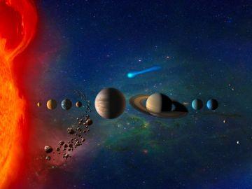 Recreación del Sistema Solar