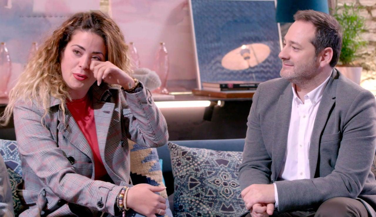 Dámaris y Gabriel se emocionan al revivir el día de su boda