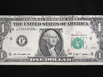 Imagen del billete de dólar que apareció en Arizona