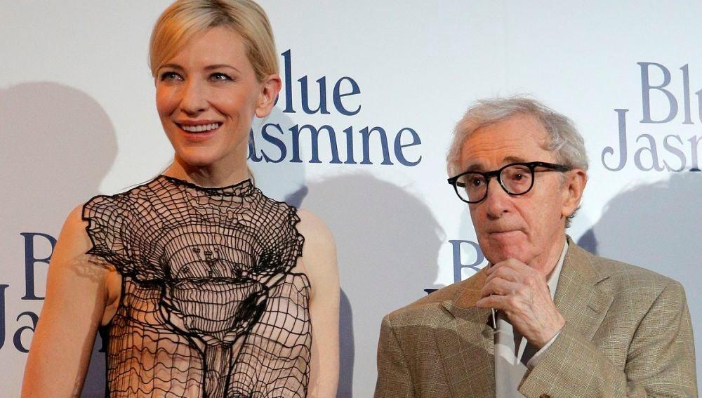 Cate Blanchett y Woody Allen en la premiere de 'Blue Jasmine'