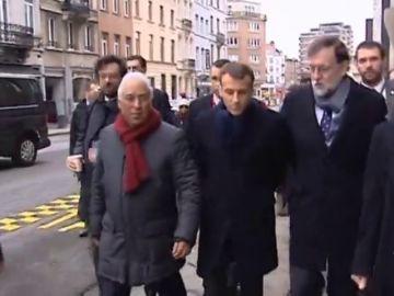 RAjoy y macron Bruselas