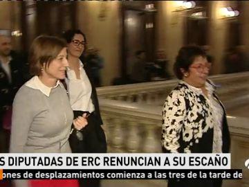 Marta Rovira, Carme Forcadell y Dolors Bassa