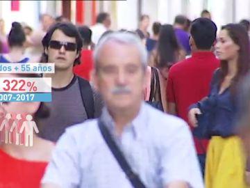 Hay casi un millón y medio de parados con más de 45 años en España