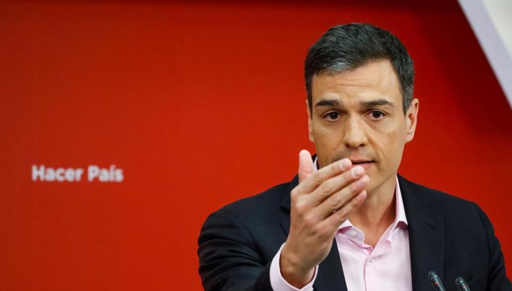 El Secretario General del PSOE Pedro Sánchez