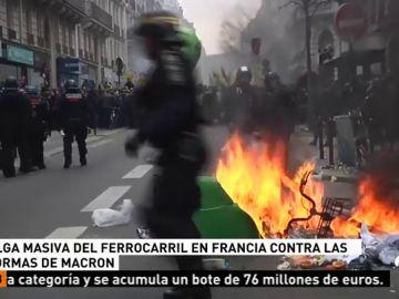 Huelga masiva del ferrocarril en Francia