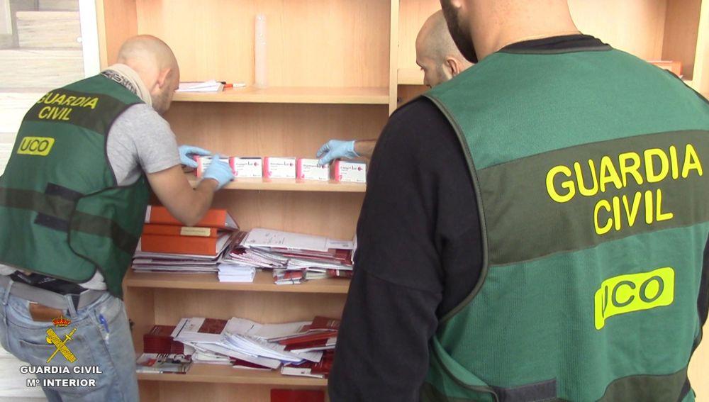 Fotografía de la operación facilitada por la Guardia Civil.