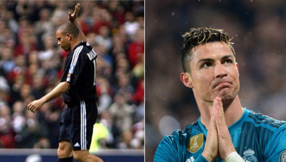 Ronaldo Nazario se despide de Old Trafford y Cristiano Ronaldo agradece los aplausos al Juventus Stadium