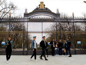 Puerta del Retiro cerradas