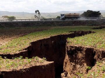 La grieta que se ha abierto en el condado de Narok