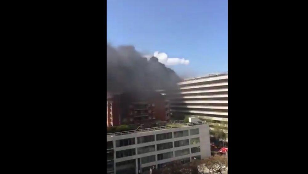 Incendio en el Hotel Expo de Barcelona