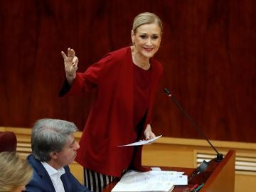 La presidenta de la Comunidad de Madrid, Cristina Cifuentes