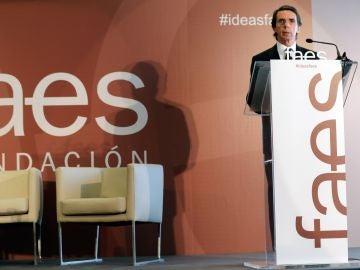 Aznar: Cataluña necesita una alternativa amplia frente al independentismo