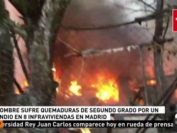 Un hombre ha resultado herido en un incendio en Pinto