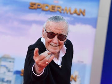 Stan Lee en la premiere de SpiderMan Homecoming'