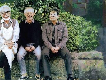 Hayao Miyazaki, Toshio Suzuki e Isao Takahata