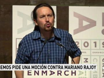 Pablo Iglesias anima de nuevo a Pedro Sánchez a presentar una moción de censura contra Rajoy