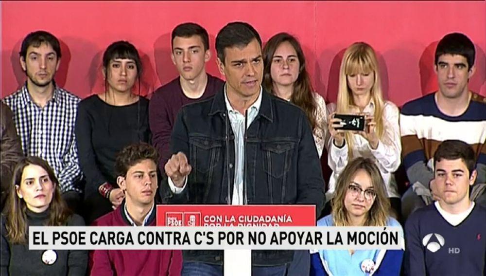 """Pedro Sánchez critica a Cifuentes: """"Representa la cultura del esfuerzo del PP: Pilla hasta que te pillen"""""""