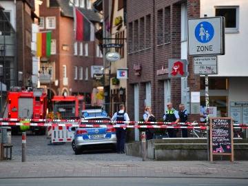 La policía ha acordonado la zona del atropello múltiple en Münster