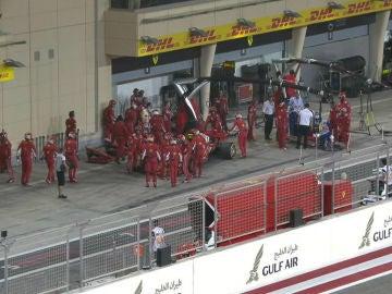 Parada accidentada de Kimi Raikkonen