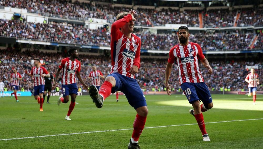 Griezmann celebra su gol en el Santiago Bernabéu a lo 'Fortnite'