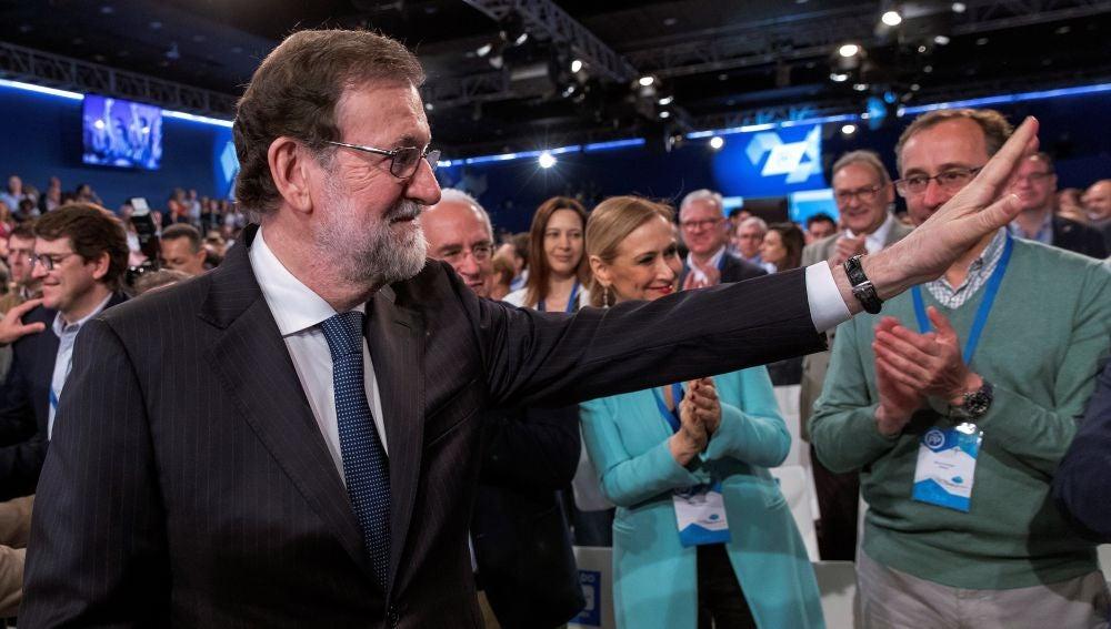 Mariano Rajoy en la clausura de la convención